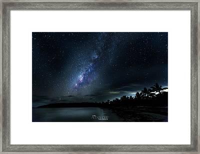 Milky Way Over Playa Navio Framed Print by Karl Alexander