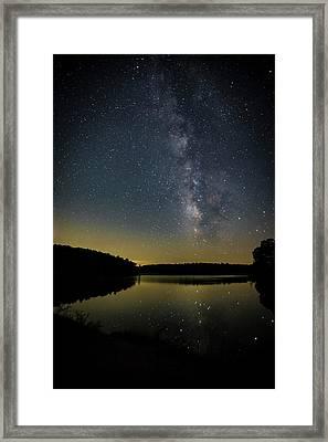 Milky Way Over Price Lake Framed Print