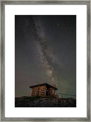 Milky Way Over Rhoscolyn Nci Station. Framed Print