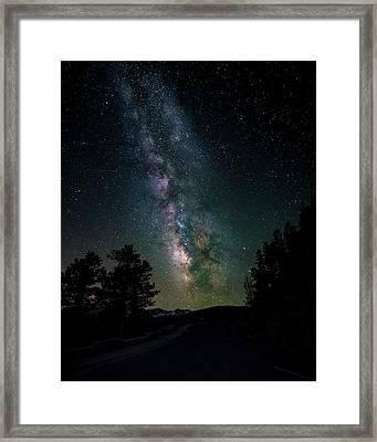 Milky Way Over Rocky Mountains Framed Print