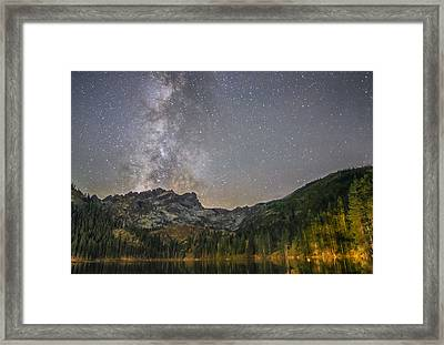 Milky Way Over Sierra Buttes Framed Print by Tony Fuentes
