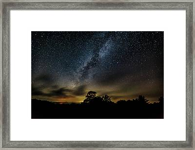 Milky Way Over The Blue Ridge Framed Print