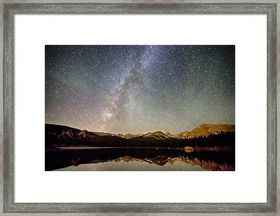 Milky Way Over The Colorado Indian Peaks Framed Print by James BO  Insogna