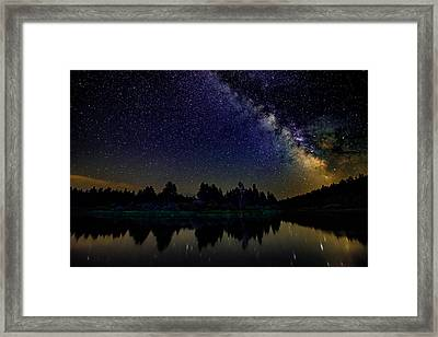 Milky Way Over The Deschutes River - 2 Framed Print