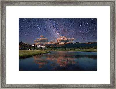 Milky Way Over The Omni Mount Washington Framed Print