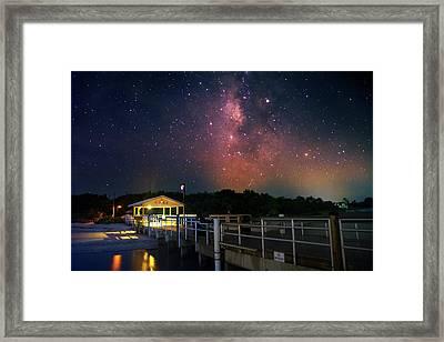 Milky Way Over The Sanibel Pier Framed Print