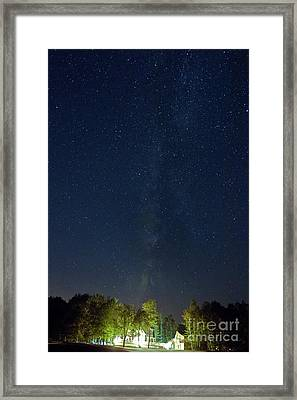 Milky Way Over Vic's Framed Print by Butch Lombardi