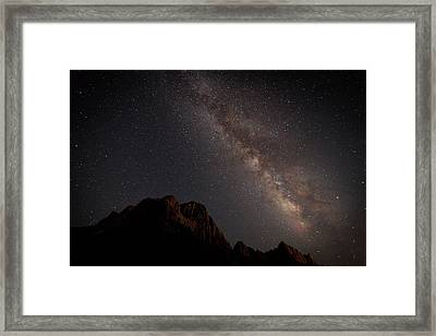 Milky Way Over Zion Framed Print