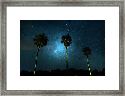 Milky Way Planet Framed Print by Mark Andrew Thomas