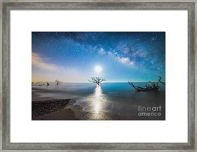 Milky Way Shore Framed Print