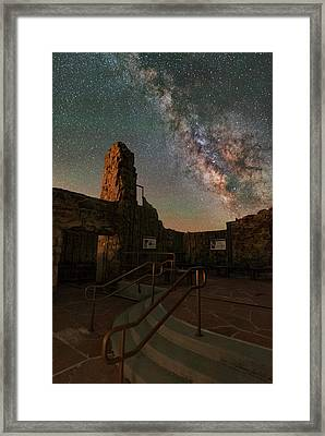 Milky Way Steps At The Crest House Ruins Framed Print
