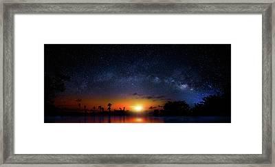 Milky Way Sunrise Framed Print
