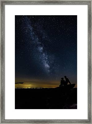 Milky Way Viewed From Rough Ridge Framed Print