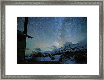 Milky Way With Airglow, Over Guanella Pass Framed Print by Daniel Lowe