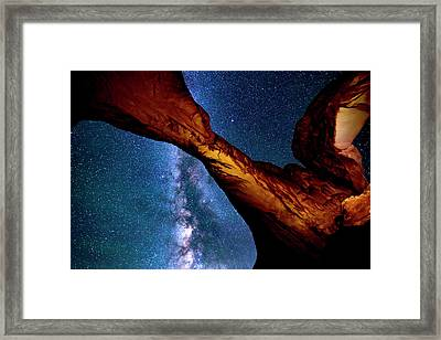 Milkyway At Arches Framed Print