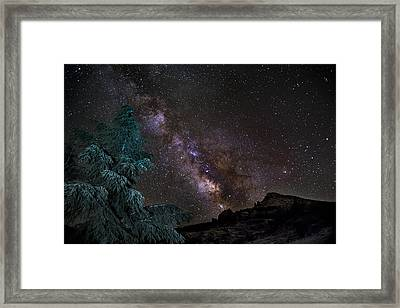 Milkyway At The Mountains Framed Print