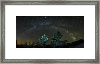 Milkyway At The Mountains II Framed Print