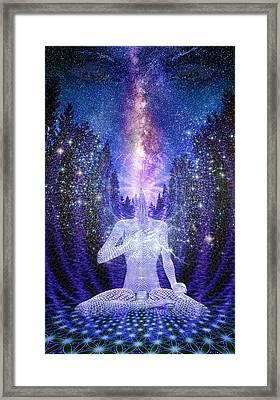 Framed Print featuring the painting Milkyway Awakening by Robby Donaghey