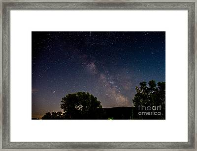 Milkyway In The Catskills Framed Print
