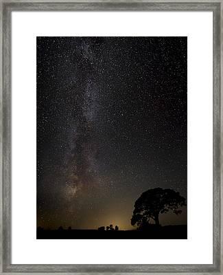 Milkyway Framed Print by Kaspars Kurcens