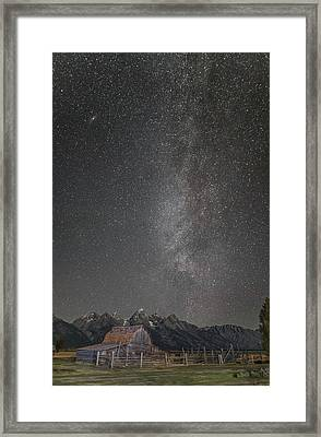 Milkyway Over The John Moulton Barn Framed Print