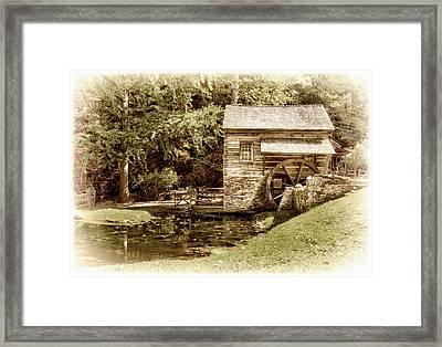 Mill At Cuttalossa Farm Framed Print