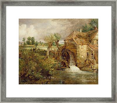 Mill At Gillingham - Dorset Framed Print by John Constable