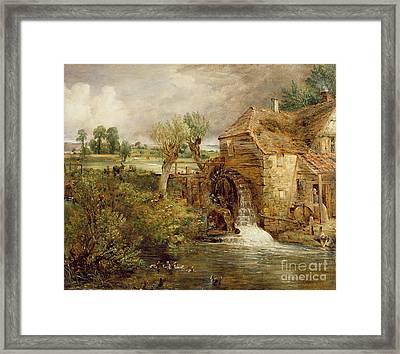 Mill At Gillingham - Dorset Framed Print by John Constable