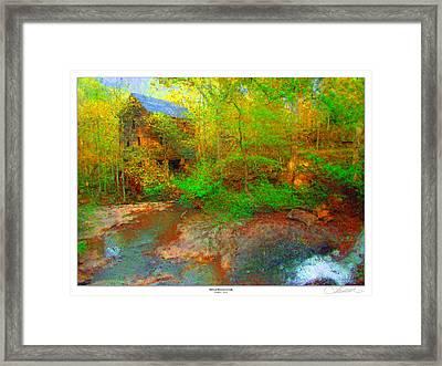 Mill At Stevens Creek Framed Print by Lar Matre
