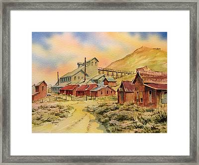 Mill Bodie Ghost Town California Framed Print by Kevin Heaney