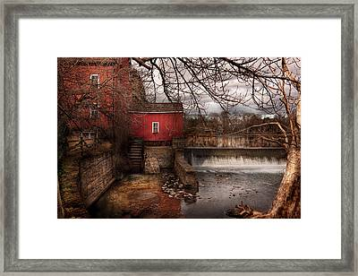 Mill - Clinton Nj - The Mill And Wheel Framed Print by Mike Savad