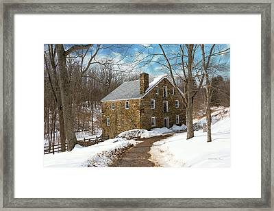 Mill - Cooper Grist Mill Framed Print by Mike Savad
