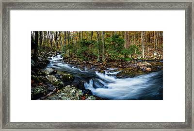 Mill Creek In Fall #2 Framed Print