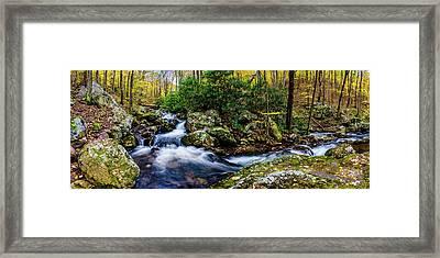 Mill Creek In Fall #4 Framed Print