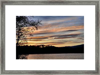 Mill Creek Lake Sun Set Framed Print by Todd Hostetter