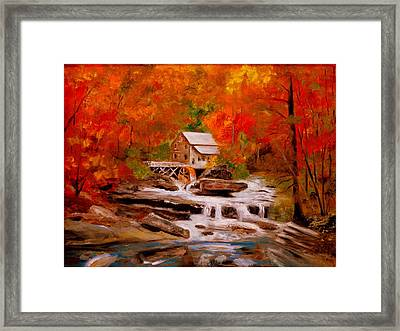 Mill Creek Framed Print by Phil Burton