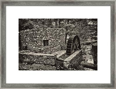 Mill Creek Water Wheel Framed Print