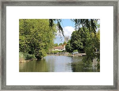 Mill Dam,tickhill Framed Print