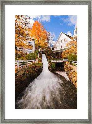 Framed Print featuring the photograph Mill Falls by Robert Clifford