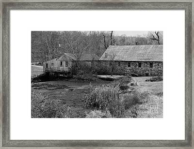 Mill In Black And White Framed Print by Paul Ward