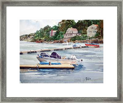 Mill River Gloucester Framed Print by Peter Sit
