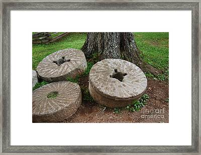 Mill Stone Framed Print by Eric Liller