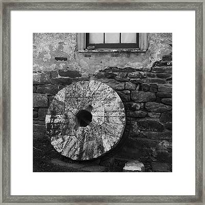 Mill Stone Framed Print by Val Arie