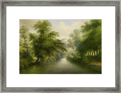 Mill Stream At Pynes Framed Print