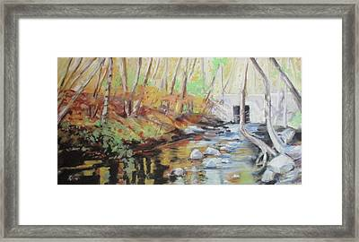Mill Stream, October Framed Print by Grace Keown