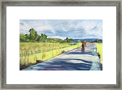 Mill Valley Bike Path Framed Print by Colleen Proppe