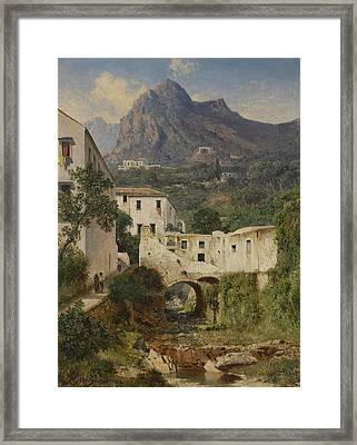 Mill Valley Near Amalfi Framed Print by Celestial Images