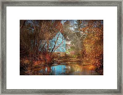 Mill - Walnford, Nj - Walnford Mill Framed Print by Mike Savad