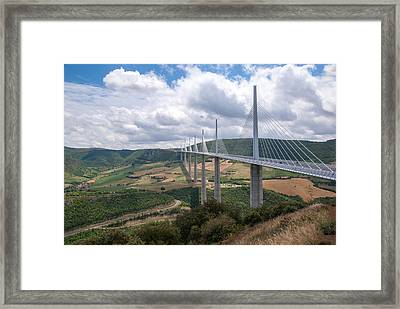 Millau Viaduct Framed Print by Rod Jones