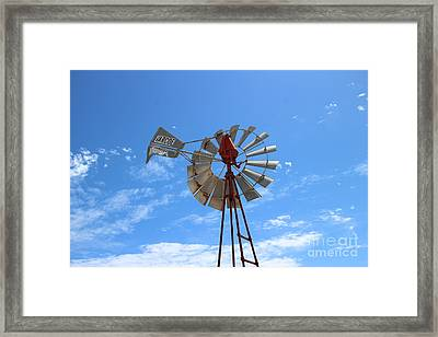 Framed Print featuring the photograph Milled Wind by Stephen Mitchell